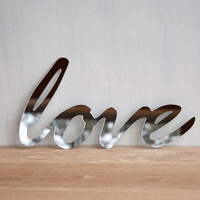 Love Mirror Word Wall Decor typography by StudioLiscious on Etsy