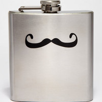 Stainless Steel Mustache Flask | Shop Novelty Barware | fredflare.com