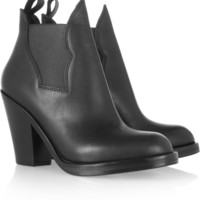 Acne|Star leather ankle boots|NET-A-PORTER.COM