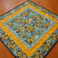 Quilted Square Floral Topper