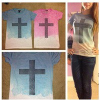 HipsterbyMadi — Studded Cross Shirts