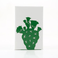 Bookend Cactus powder coated laser cut metal thick enough to hold books