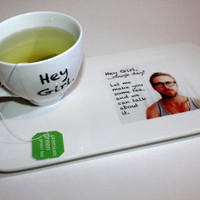 Ryan Gosling Hey Girl inspired Tea Set/Geekery/Humor/Tea Gift Set/Gift under 30/Tea for One