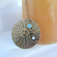 Sun Necklace Pendant by 636designs on Etsy
