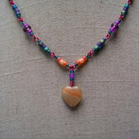 Glass Heart Necklace by AthomicArtandDesign on Zibbet