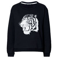 SWEATSHIRT WITH ANIMAL EMBROIDERY - Knitwear - Woman - ZARA United States