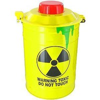 Toxic Waste Security Warning Alarm Cookie Jar - Bio-hazard Barrell