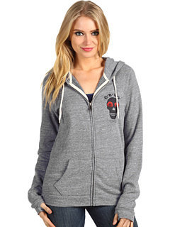 Obey Sinners Zip Hoodie Heather Grey (w/ Thumb holes)