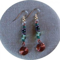 Alpine Earrings by AthomicArtandDesign on Zibbet