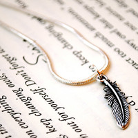 Feather Necklace by KellyStahley on Etsy