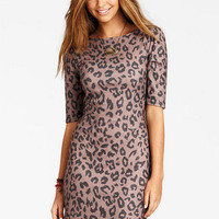 Cheetah Print Knit Dress