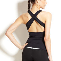 ideeli | KOS*USA Cinch Front Cross Back Tank