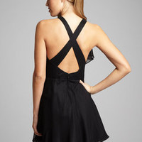 ideeli | HOAGLUND NEW YORK Drape Front Chiffon Dress