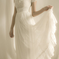 1920&#x27;s  Wedding Dress - White Ruffles