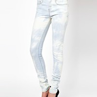 High Waisted Ultra Skinny Jean In Bleach Out Wash
