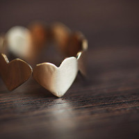 Brass Band of Hearts Ring