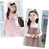 Girls Kids Toddlers Princess 1PCS Party Dress Cute Elegant Fairy Clothes S2-7Y