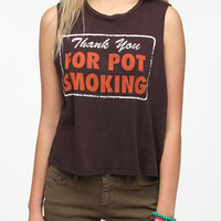 Urban Outfitters - Le Shirt Thank You For Smoking Muscle Tee