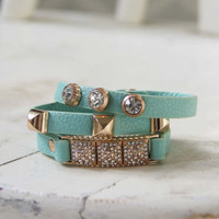 Moon Rise Bracelet in Mint, Women's Affordable Accessories