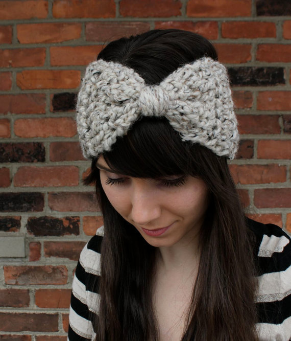 Free Crochet Pattern Mens Headband : PDF PATTERN Crochet Headband Big Bow Ear from AntikaModa ...