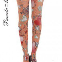 Pamela Mann Doodle Heart tights - Pantyhose, Stockings and more -  MyTights.com - The Online Hosiery Store
