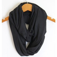 Black Infinity Scarf