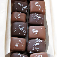Chocolate Covered Caramels Fleur de Sel Salt Candy by KerryCan