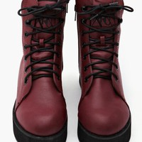 Rise Up Platform Boot - Oxblood