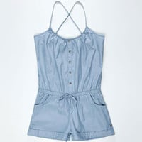 FULL TILT Chambray Romper 210629221 | Rompers &amp; Overalls | Tillys.com
