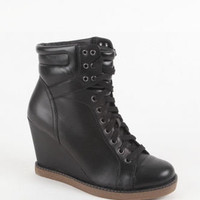 Report Daysha Sneaker Wedge Boots at PacSun.com