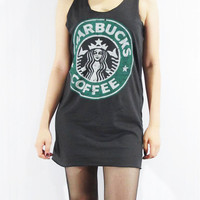 STARBUCKS Coffee Coffeehouse Twin-Tailed Siren Top by punkalife