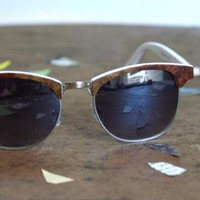 Red Eyewear - Amboyna Wood and White Sunglasses | UsTrendy