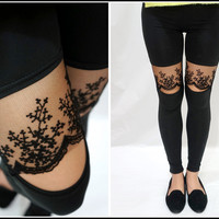 Sandysshop  Lace Ankle Leggings