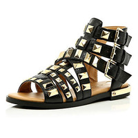 Black studded Gladiator sandals