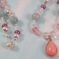 Pastel Swarovsk Crystal and Gemstone necklace