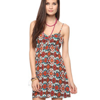 Cutout Ikat Print Dress | FOREVER21 - 2015035123