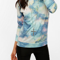 Urban Outfitters - Sparkle &amp; Fade Galaxy Print Sweatshirt
