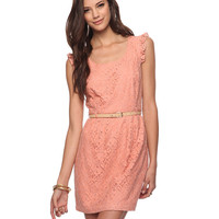 Belted Lace Dress | FOREVER21 - 2000036655