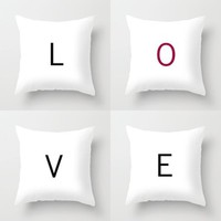 MAKE YOUR OWN SPECIAL SET *** LOVE *** Pillow Set by The Letter Shop | Society6
