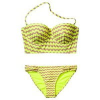 Xhilaration® Junior's Zig Zag 2-Piece Swimsuit -Yellow
