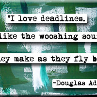 Douglas Adams Quote Magnet no135 by chicalookate on Etsy
