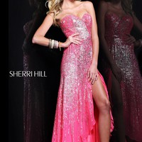 Sherri Hill 8510 Strawberry Evening Gown