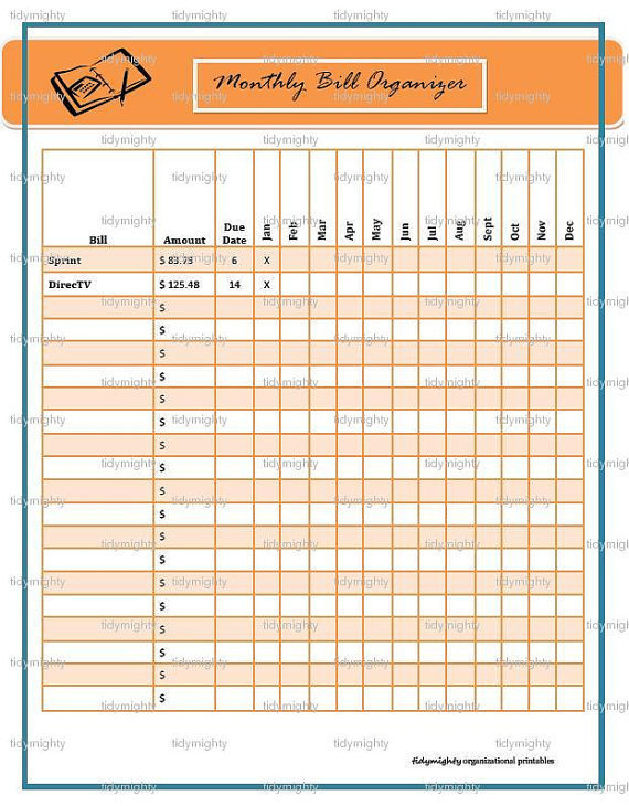 Monthly Bill Payment Schedule Pdf Pictures to pin on Pinterest