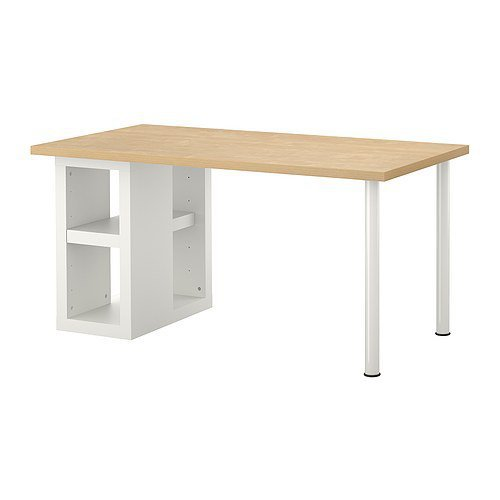 VIKA AMON/VIKA ANNEFORS Table - birch effect/white - IKEA