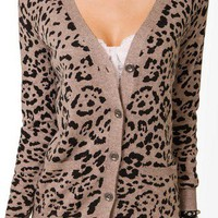 Leopard Print Cardigan | FOREVER 21 - 2027705533