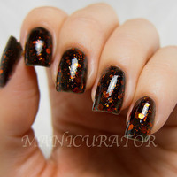 Jack Nail Polish  Halloween Nail Polish in Orange and by KBShimmer