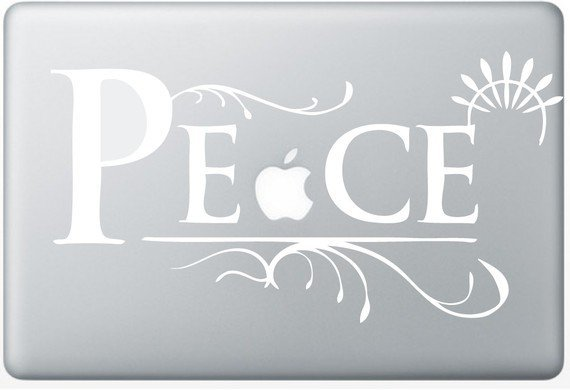 Peace laptop DECAL macbook PC computer Gadget Art / by EyvalDecal