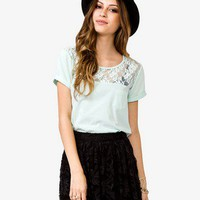Lace Yoke Knit Top