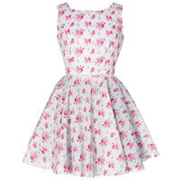 Vintage Inspired Rose Print Dress | Style Icon`s Closet