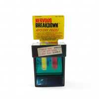 Vintage NERVOUS BREAKDOWN Puzzle Dexterity Game Super Retro Colorful and Difficult / 60s